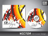CD cover presentation design template with copy space and wave effect editable EPS10 vector illustration