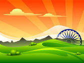 Indian tricolor flag Asoka wheel for Republic Day and Independence Day Vector illustration EPS 10
