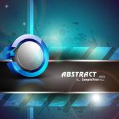 Abstraktní 3d lesklý ikona v modré a šedé barvě na modrém pozadí abstraktní s textem space.eps 10. může být použít jako ikonu, prvek, nápisu nebo pozadí