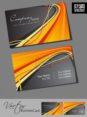 Professional business cards, template or visiting card set. Artistic wave effect, abstract corporate look, EPS 10 Vector illustration.
