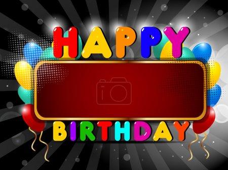 Illustration pour Ballon brillant coloré et fond cadeaux avec billborad. SPE 10 . - image libre de droit