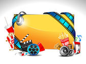 Vector illustration of promotion banner full of entertainment an