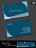 Professional business cards template or visiting card set Pink Artistic wave effect abstract corporate look EPS 10 Vector illustration