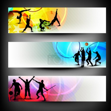 Illustration for Abstract colorful Sport banners set in vector format. Eps 10 - Royalty Free Image