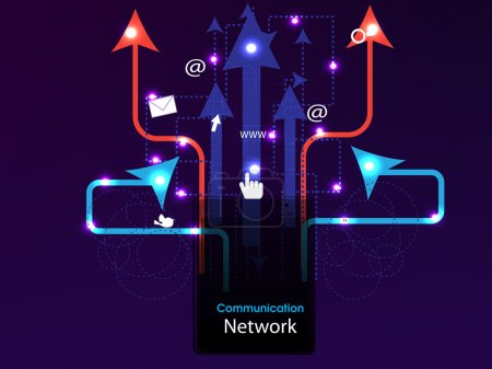 Social media, network connection concept dispaying...