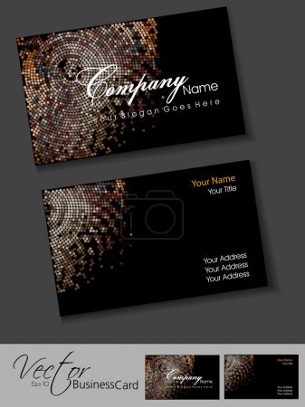 awesome mosaic editable vector business card template eps 10 des