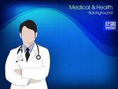 Zdraví a lékařské zázemí s lékařem (samec). EPS 10