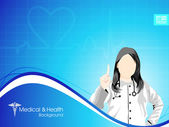 Health and medical background with Doctor (Female) EPS 10