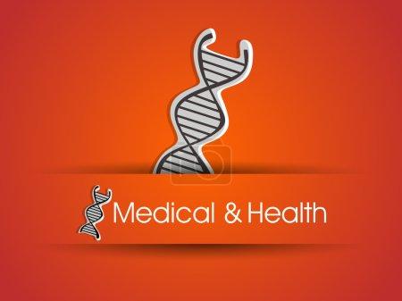 Illustration pour Icône ADN sur fond orange. SPE 10 . - image libre de droit