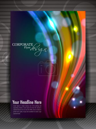 Illustration for Flyer, brochure or cover design for publishing, print and presentation. EPS 10. - Royalty Free Image