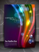 Flyer, brochure or cover design for publishing, print and presen