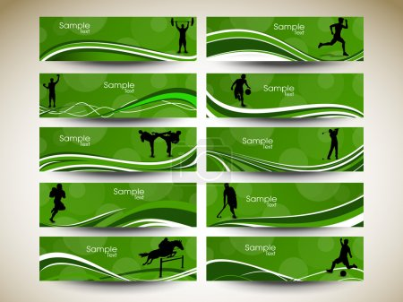 Illustration for Abstract Sports Banner. Eps 10, Vector Illustration - Royalty Free Image