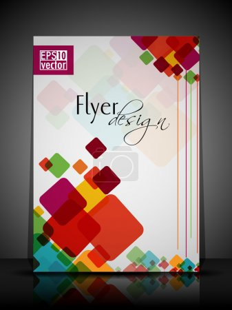 Illustration for EPS 10 Flyer Design Presentation with colorful abstract and Editable Vector Illustrat - Royalty Free Image