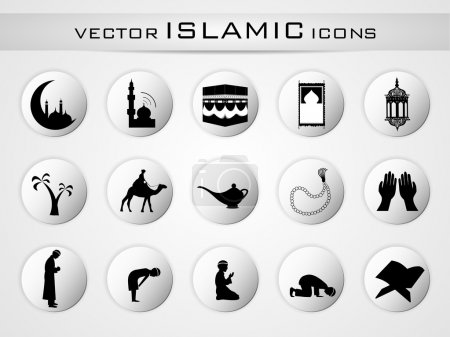 Photo for Islamic website icons set. EPS 10. - Royalty Free Image