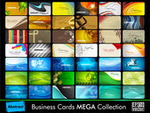 Colorful Horizontal Business cards with rounded corners  Vector illustration in EPS 10