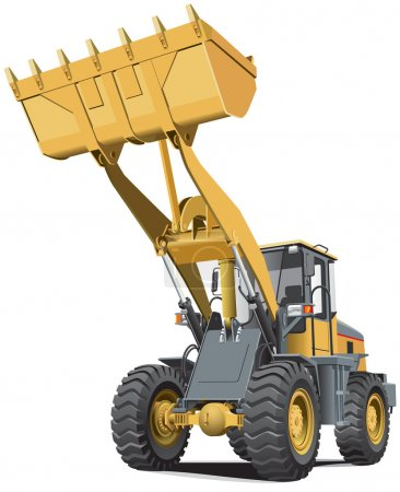 Light-brown front end loader