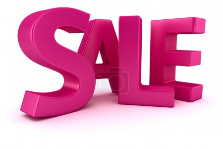 "Photo for Word ""Sale"" written by magenta letters - Royalty Free Image"