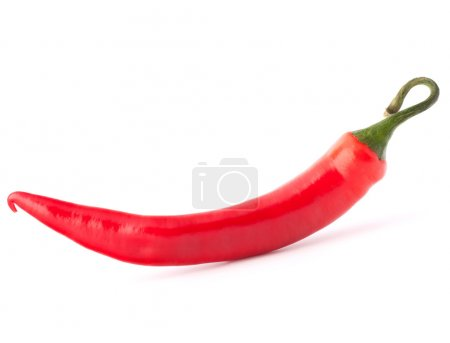 Photo for Hot red chili or chilli pepper isolated on white background cutout - Royalty Free Image