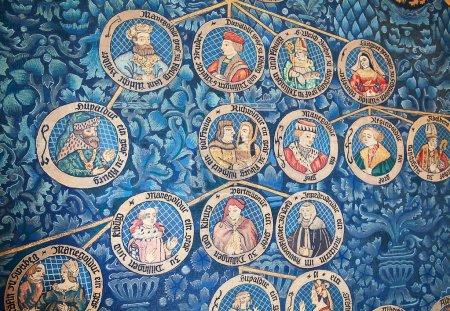 Photo pour Arbre généalogique de la famille de l'ancien duc - image libre de droit