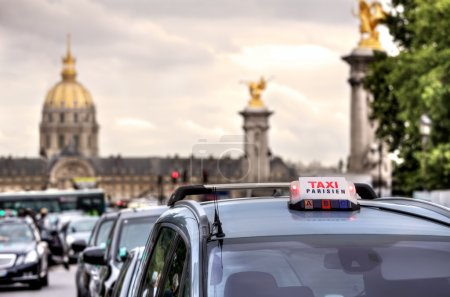 Parisian taxi sign. Paris, France.