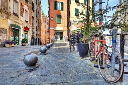 Old street of Genoa, Italy.