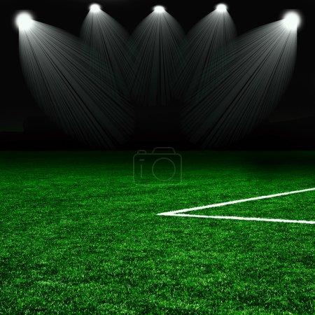 Photo pour Terrain de football vert - image libre de droit