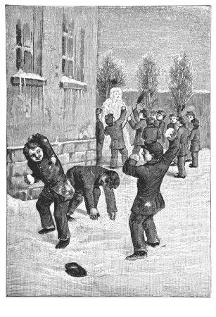 Photo pour Russie - vers 1902 : illustration tirée d'un livre « lecons de causerie » imprimé par l'Académie de science. Saint-Pétersbourg, Russie, 1902. montrent des scènes de la vie de l'enfant. créateur zelensky - image libre de droit
