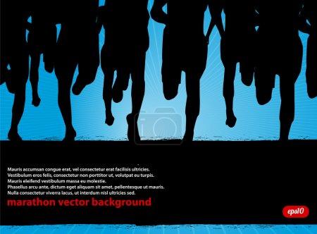 Marathon Runners Background