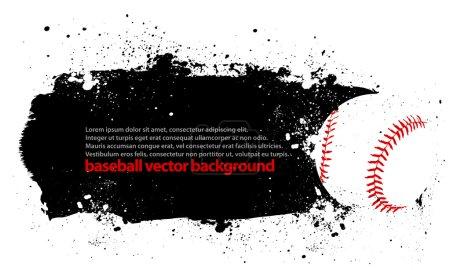 Grunge Baseball Poster
