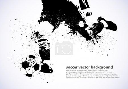 Grunge Soccer Poster