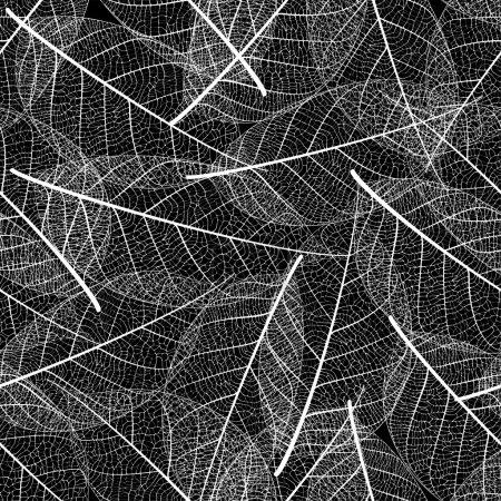 Vector leaf seamless