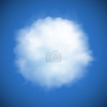 Vector cloud background