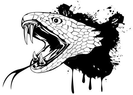 Illustration pour Illustration vectorielle tête de serpent - image libre de droit