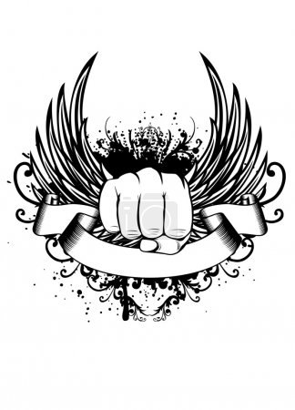 Wings and fist