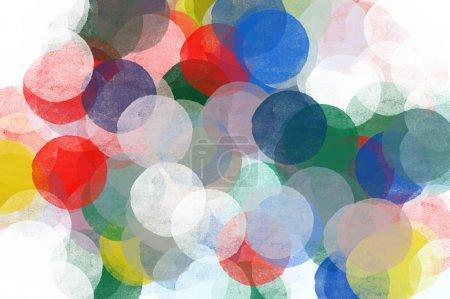 Foto de Ilustración del patrón abstractos círculos transparentes. pincel pintura arte pop fondo. - Imagen libre de derechos