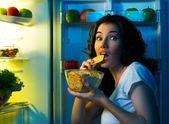 """Постер, картина, фотообои """"холодильник с едой"""""""