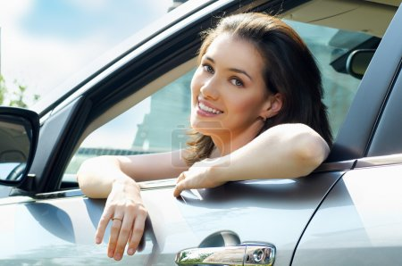 Photo for Girl sitting in the car - Royalty Free Image