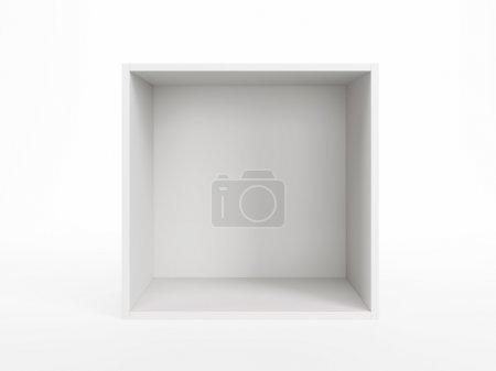 isoliert leere weiße Schachtel