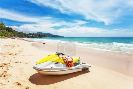 Photo for Water scooter on the beach. Phuket island. Thailand - Royalty Free Image