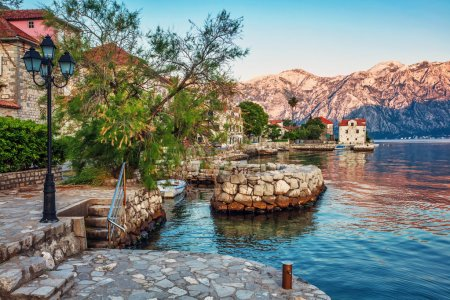 Photo for Seafront with sea and mountain views. Montenegro - Royalty Free Image