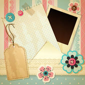 Vector illustration - vintage scrapbook background eps10