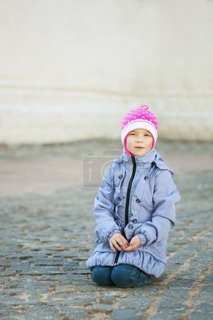Poor unhappy girl-preschooler