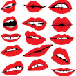 Set of different lips, illustration...
