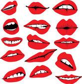 Reihe von verschiedenen Lippen