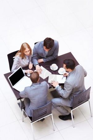 Photo for Businessmen discussing in the office - Royalty Free Image