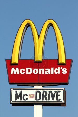 Famous big sign of McDonalds and McDrive...