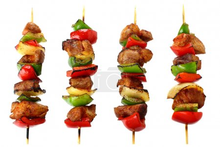 Photo for Fried skewers isolated on a white background - Royalty Free Image