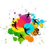 Sport háttér - színes vektoros illusztráció