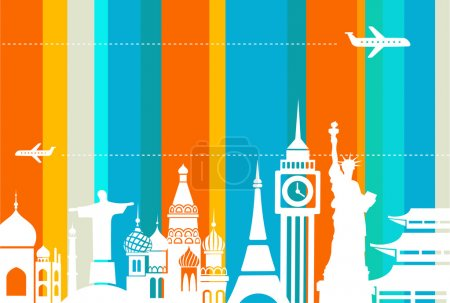 Travel background - vector
