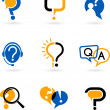 Set of question and answer vector icons...